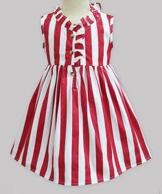 0928da07b Take a look at this Red   White Stripe Zoila Dress - Infant