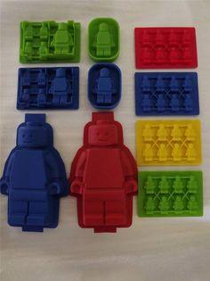 Minifigure Lego Man Silicone Bake Ice Tray Robot Chocolate Mold Cake Pan Fondant
