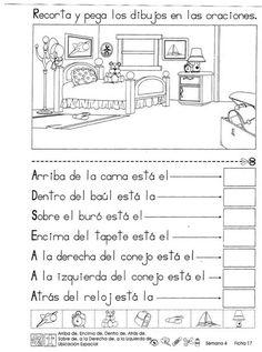 Ubicación espacial 2do Grado Spanish Teacher, Spanish Classroom, Teaching Spanish, Teaching Resources, Speech Language Therapy, Speech And Language, Therapy Activities, Math Activities, Spanish Activities