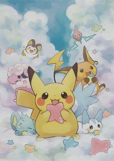 Pokemon Fan Art, My Pokemon, Pokemon Cards, Pikachu Pikachu, Pokémon Kawaii, Pokemon Mignon, Cute Pokemon Wallpaper, Eevee Wallpaper, Pikachu Kawai