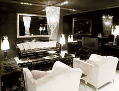 InStyle-Decor.com Beverly Hills Luxe Black Interiors Trending Inspiring Luxury Hollywood Home Decor Enjoy  Happy Pinning