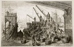 Limehouse Dock, from 'London, a Pilgrimage', written by William Blanchard Jerrold Wall Art Prints by Gustave Dore