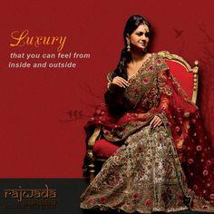 Luxurious Sarees, that give you gorgeous look and royal feelings. Rajwada Sarees gives you the platform to get traditional and luxurious Sarees like : Bnarasi Sarees, Paithani Sarees, Parsi Gara, Kantha Saress and more.