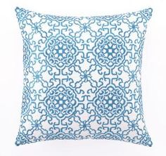 This pillow is sure to add a little color to any room.  Product in photo from www.wellappointedhouse.com