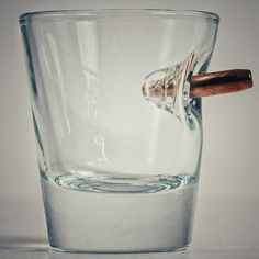 Shot Glass With Real Bullet #giftsformen #giftsshop for_the lush