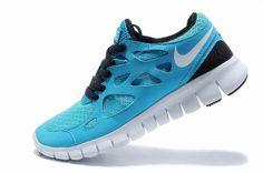 Nike Free Run 2 Herren-Schuhe Blau Schwarz