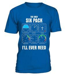 Tshirt  Men's The Only Six Pack I'll Ever Need Pilot T-Shirt  fashion for men #tshirtforwomen #tshirtfashion #tshirtforwoment