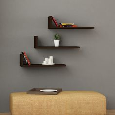 Green Floating Wall Shelves | Wall Shelf Set | Sale