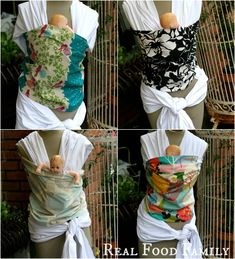 DIY Baby-Wearing Wraps by Real Food Family ~ The most comfortable way to wear your baby...seriously!