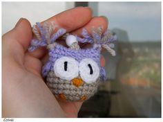 Handmade Keychain with Purple Owl,Crochet Gift for Kids,Purple Lover,Key Holder Funny Animal,Bag Charm,Cute Amigurumi,Little Girl Gift Idea