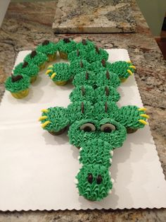 alligator baby shower cake cupcakes - Google Search