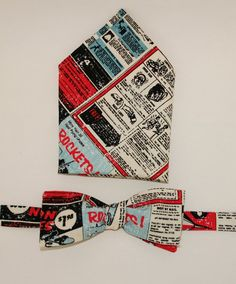 Bow-Tie and Pocket Square Set  Rocket man by hisnibbs on Etsy