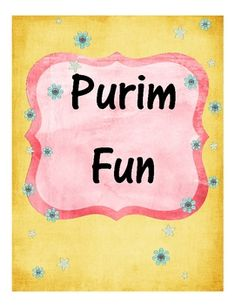 Fun learning activities for the Jewish holiday of Purim...