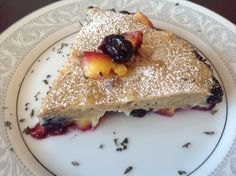 Dutch oven baked fruit pancake (gluten/dairy free option)