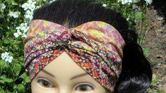Turban Stirnband Haarband Knoten von Maiblume - fiore di maggio auf DaWanda.com Twist Headband, Etsy, Accessories, Beauty, Fashion, May Flowers, Turban Headbands, Headband Bun, Knots