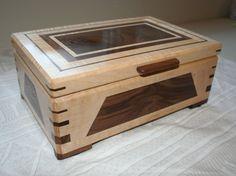 Wood Jewelry Box Wooden Jewelry Box by PaulsFineWoodworking