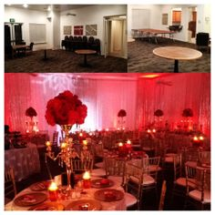Before and After! Amazing red carpet #holiday #event in California. The design features three #gobos with snowflake designs, 28 #uplights, and sparkly sheer drapes. Check out the video at http://www.youtube.com/watch?v=8Pv4n9w71es