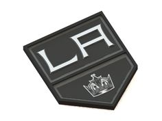 Los Angeles Kings ice hockey team logo. #3Dmodel #NHL #logo #icehockey #LosAngelesKings