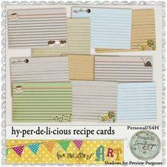 Hy.per.de.li.cious Recipe Cards Digital Product