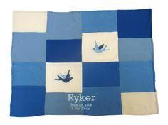 Namely Newborns - Cashmere Baby Blanket - Handcrafted Patchwork Blue  Bird, $190.00 (https://www.namelynewborns.com/cashmere-baby-blanket-handcrafted-patchwork-blue-bird/)