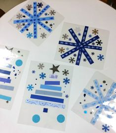 Christmas Post, Christmas Tree Cards, Xmas Cards, Kids Christmas, Christmas Crafts, Diy For Kids, Crafts For Kids, Christmas Window Decorations, Winter Art Projects