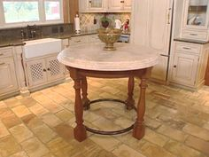 Browse through these HGTV.com photos of popular kitchen flooring options to get ideas for your own kitchen.