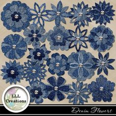 Best 12 This listing is for 6 upcycled denim flowers. Choose from 2 and inches, 3 inches, or 4 inches. The flowers will come in a variety of shades of denim. Each petal has been hand cut and reassemble. The fabric has been treated for fraying and stiff Denim Flowers, Cloth Flowers, Fabric Flowers, Jean Crafts, Denim Crafts, Denim Ideas, Recycle Jeans, Old Jeans, Recycled Denim
