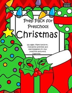 This is a comprehensive set of printables with a Christmas theme - make hands-on, interactive activities and learning games for your preschool and pre-K classroom. 122 pages.