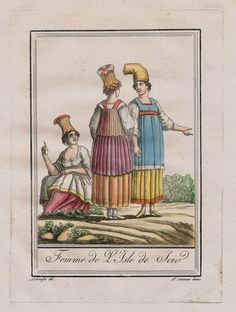 1780 Chios Island Greece Costume Engraving Antique Print Griechenland