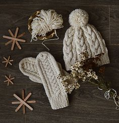 Tilda cable hat & mittens