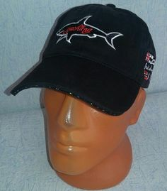 Paul+&+Shark+Style+Sport+Baseball+Cap+New+Hat+Adjustable+Black+#002