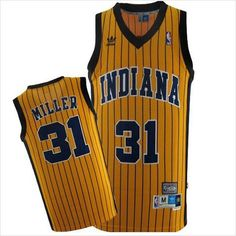 88a454f44 Mens Indiana Pacers Reggie Miller 31 Yellow Authentic NBA Basketball Jersey  on eBid United States Reggie