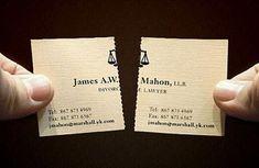 Cartão para um Advogado de Divórcio