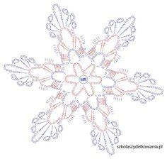Snowflake, Crochet Snowflake, Crochet Snowflake, Crochet School, … - Home Page Crochet Snowflake Pattern, Crochet Stars, Christmas Crochet Patterns, Crochet Snowflakes, Thread Crochet, Crochet Diagram, Crochet Motif, Crochet Doilies, Crochet Flowers