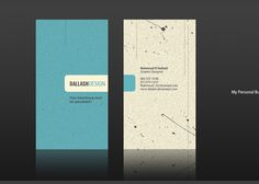 Awesome businesss card design inspiration from www.cketch.com