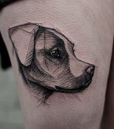 Hunde-Tattoos - Eher Grafik für einige ...