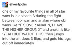 Obi Wan and Anakin