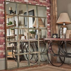 From GDUKStyle.com Vintage feature: uniche Interior Furnishings Large Factory Mirror £750