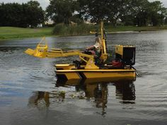 Photo Gallery | Pond Cleaning Services | Aquatic Weed Control Pond Cleaning, Weed Control, Cleaning Services, Location Map, Small Boats, West Palm Beach, Heavy Equipment, Photo Galleries, Construction