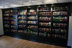 Inspiration Design of Creative Room Partition Ideas You Won't Miss - CasaNesia Funko Pop Display, Toy Display, Display Cases, Action Figure Display Case, Man Cave Homes, Room Partition Designs, Partition Ideas, Geek Room, Game Room Design