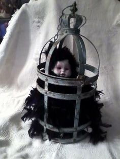 I made this Baby Bird in a cage