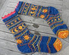Ravelry: Sun & Moon Socks pattern by SJ Griffin