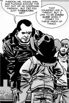 The Walking Dead Badass Carl Negan and Rick Comic