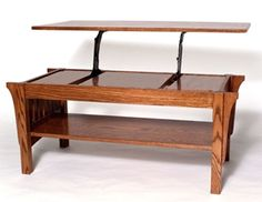 Small Woodworking Projects: Simple Lift Top Coffee Table Plans - What's Your Style?