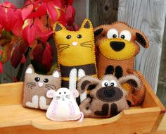 Cat and Dog Plushies jigsaw puzzle in Handmade puzzles on TheJigsawPuzzles.com