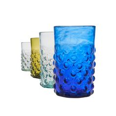 Hand blown by Syrian refugees, these beautiful recycled Bumpy Glass Tumblers in aqua are the perfect addition to any kitchen or bar. World Refugee Day, Work Opportunities, Syrian Refugees, Recycled Glass, Hand Blown Glass, Vulnerability, Tumblers, Recycling, Things To Sell