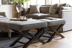 The elegant cross legged frame of the Alex Stool combines traditional design with a crisp tailored cushion Ottoman Sofa, Armchair, Ottomans, Traditional Design, Seat Cushions, Interior Design, Table, Furniture