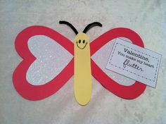 Crafts for Kids:  Valentine's Day Butterfly Craft