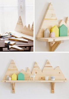 #diy project: plywood mountains shelf // DIY #Berg und Tal Regal für das #Kinderzimmer
