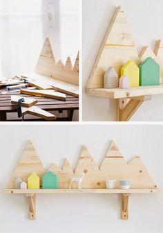 #diy project: plywood mountains shelf // DIY #Berg und Tal Regal für das #Kinderzimmer